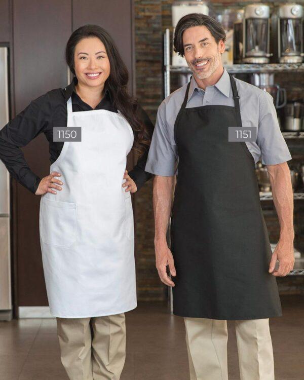 Designer Bib Aprons 1150-1151 | Premium Uniforms