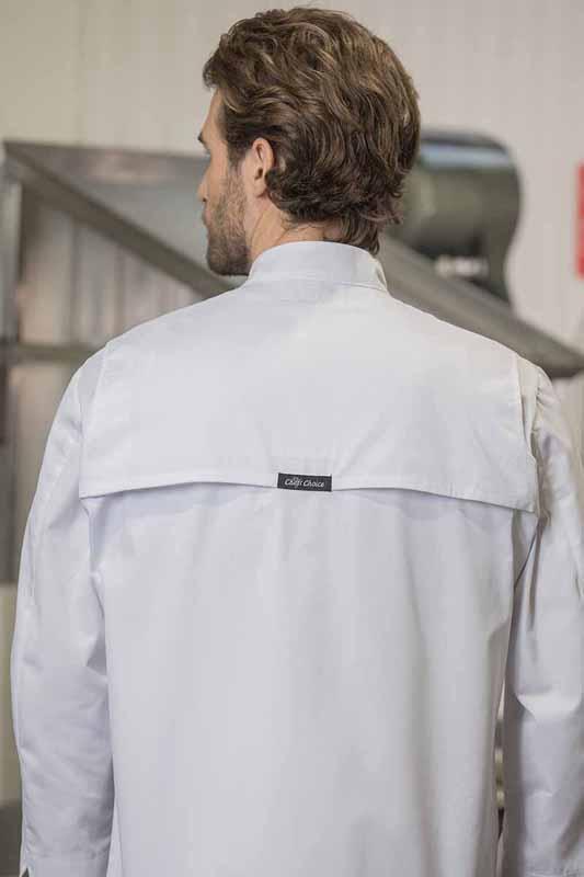 Chef Coats with Mesh Yoke 5450   Premium Uniforms