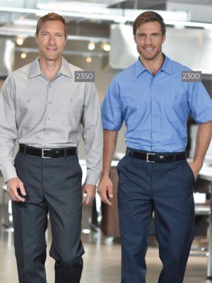 Poly/Cotton Work Shirts 2350GRY-2300BLU | Premium Uniforms