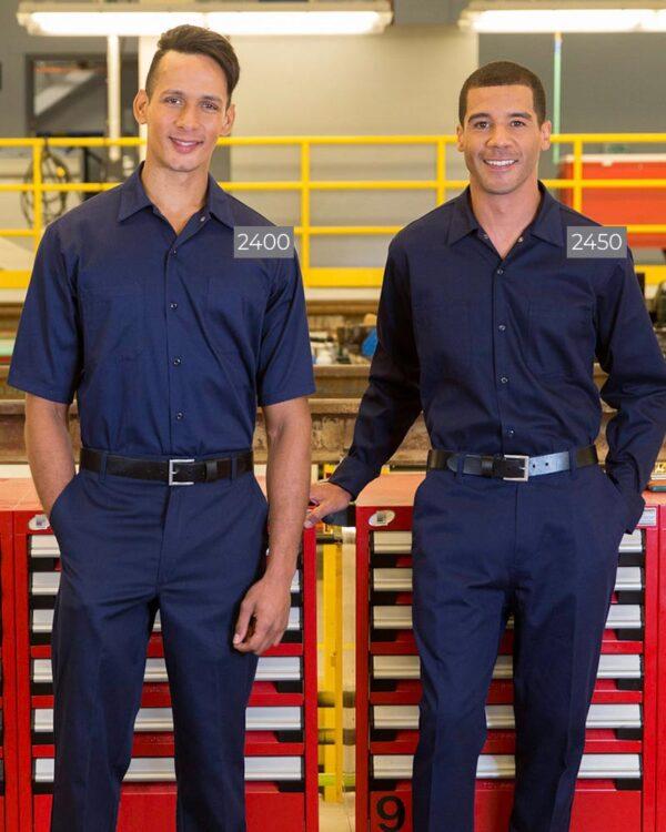 100% Cotton Work Shirts 2400-2450 | Premium Uniforms
