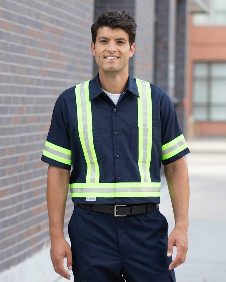 100% Cotton Work Shirts With 2″ Reflective Tape
