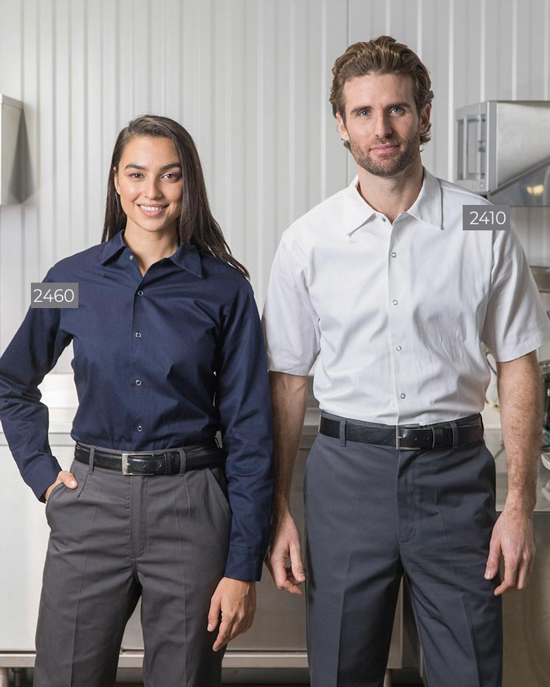 100% Cotton Collared Food Industry Shirts