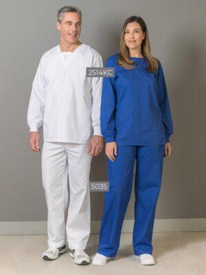 V-Neck Scrub Top with Knit Cuffs 2514KC-5035V | Premium Uniforms