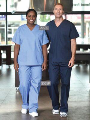 Premium Unisex V-Neck Scrub Top 2555S-2555P | Premium Uniforms