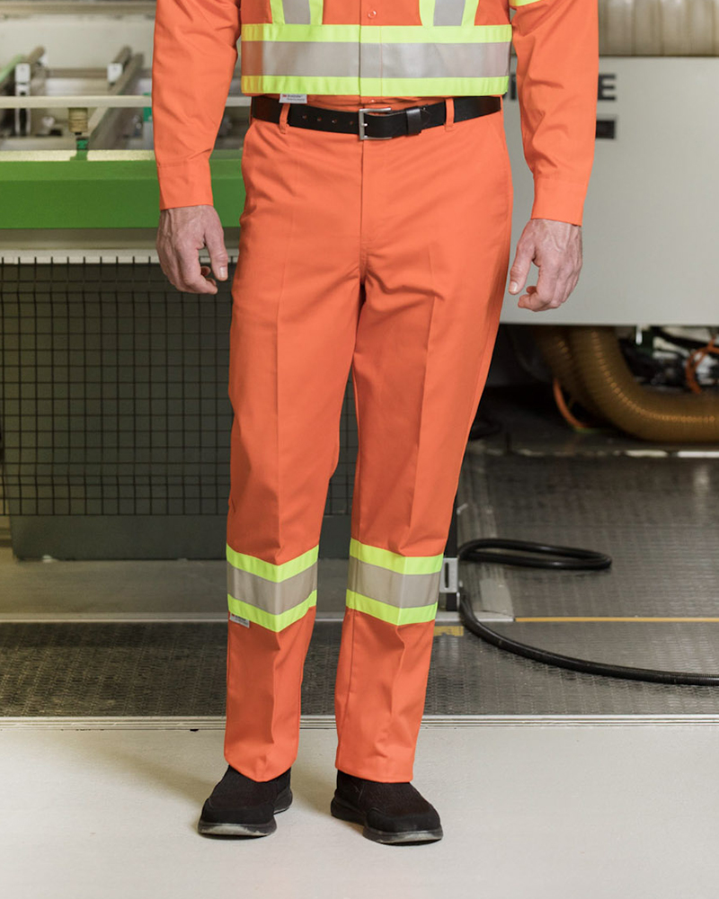 Poly/Cotton Work Pants With 4″ Reflective Tape