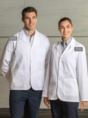 Poplin Counter Coats with Snaps 5193-5192 | Premium Uniforms