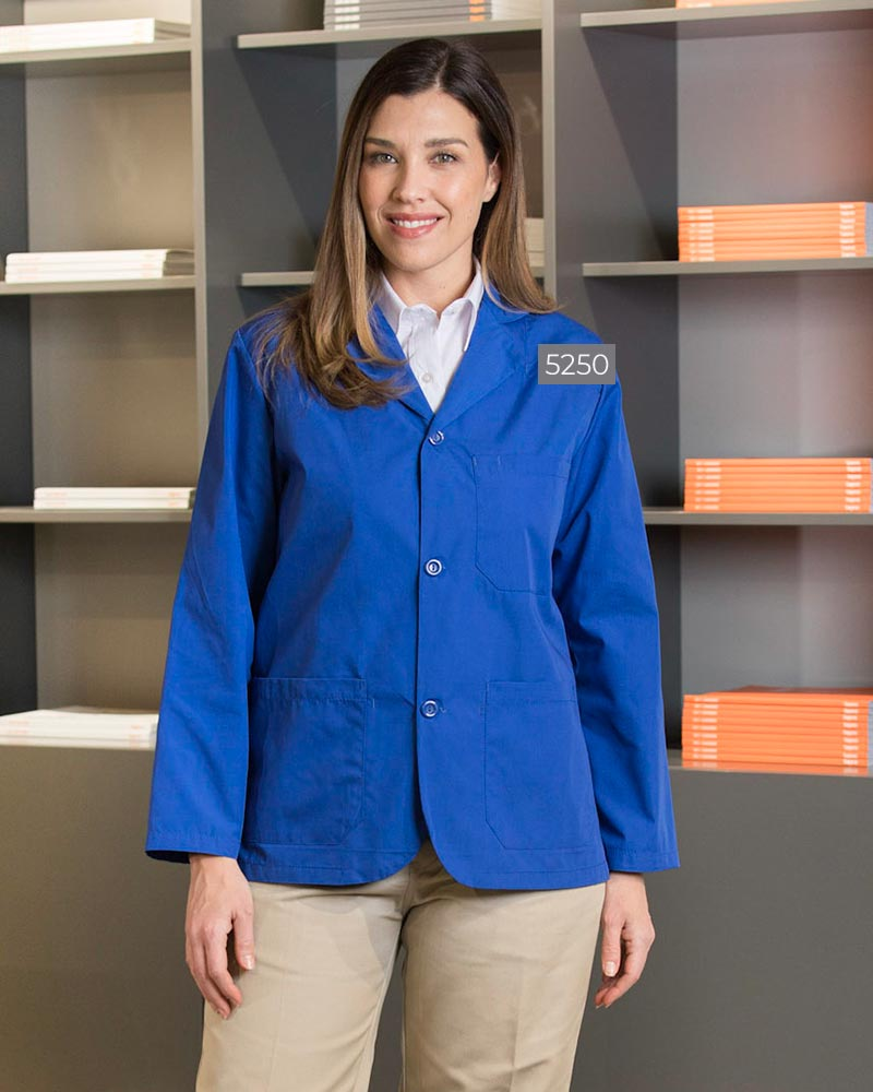 Poplin Counter Coat With Buttons