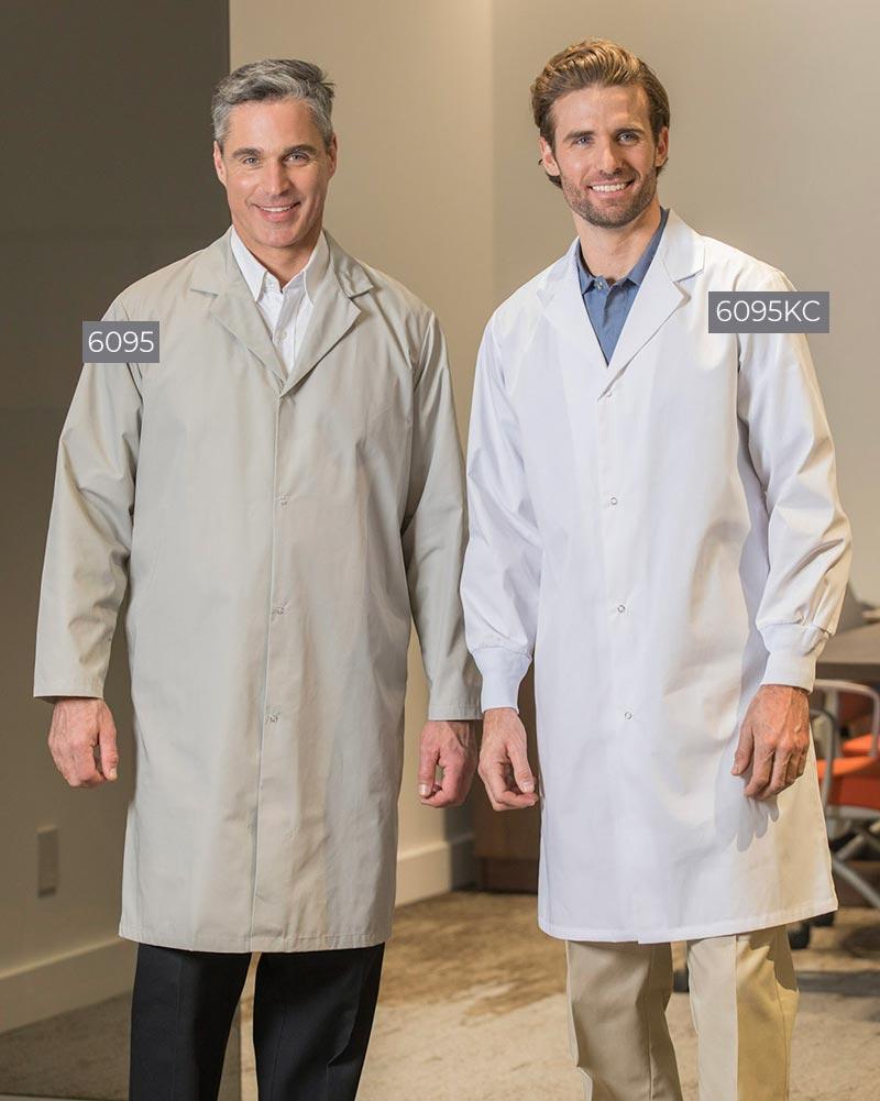No-Pocket and 2-Pocket Men's Lab Coats