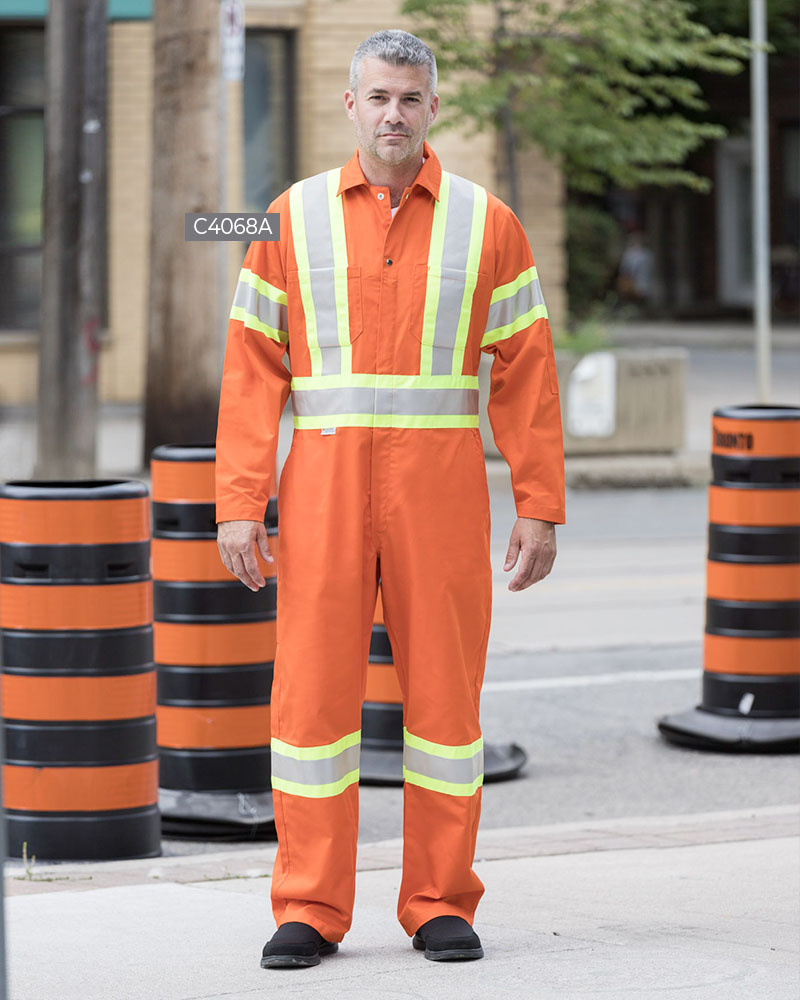 Coveralls With 4″ Reflective Tape