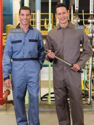 100% Cotton Coveralls with Button Front C40603-C406 | Premium Uniforms