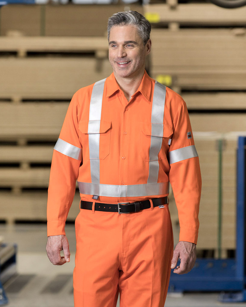 High-Vis Flame-Resistant Work Shirt