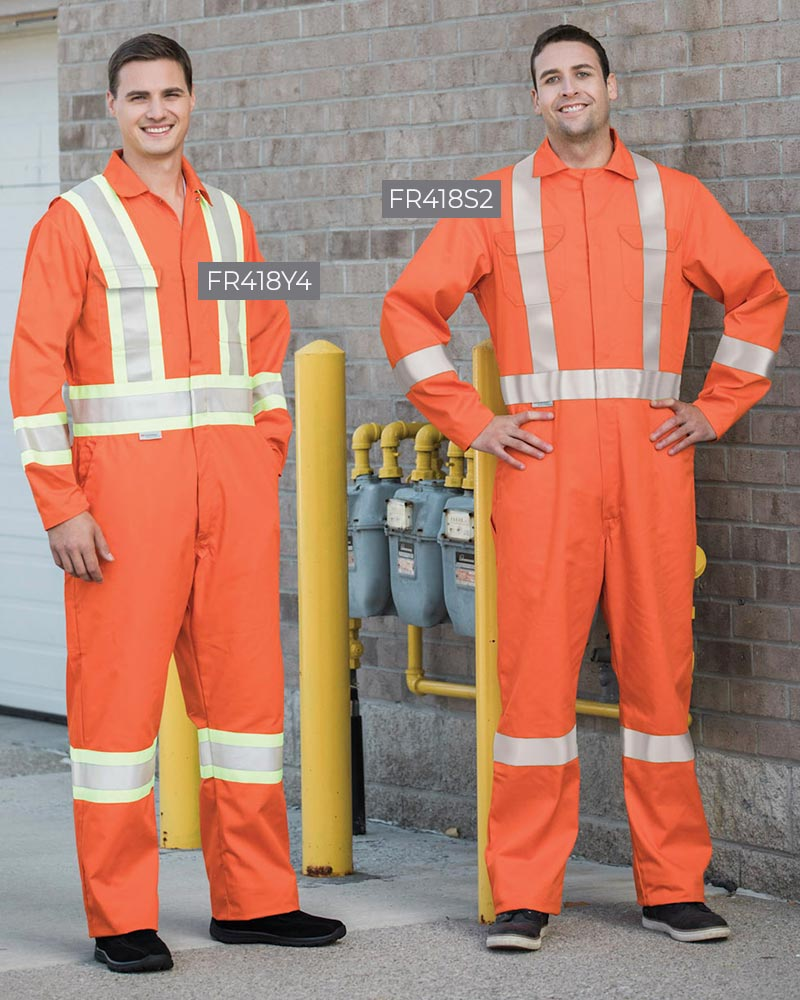 High-Vis Flame-Resistant Coveralls
