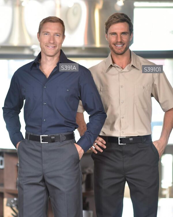 Banded Collar Work Shirts S391 | Premium Uniforms
