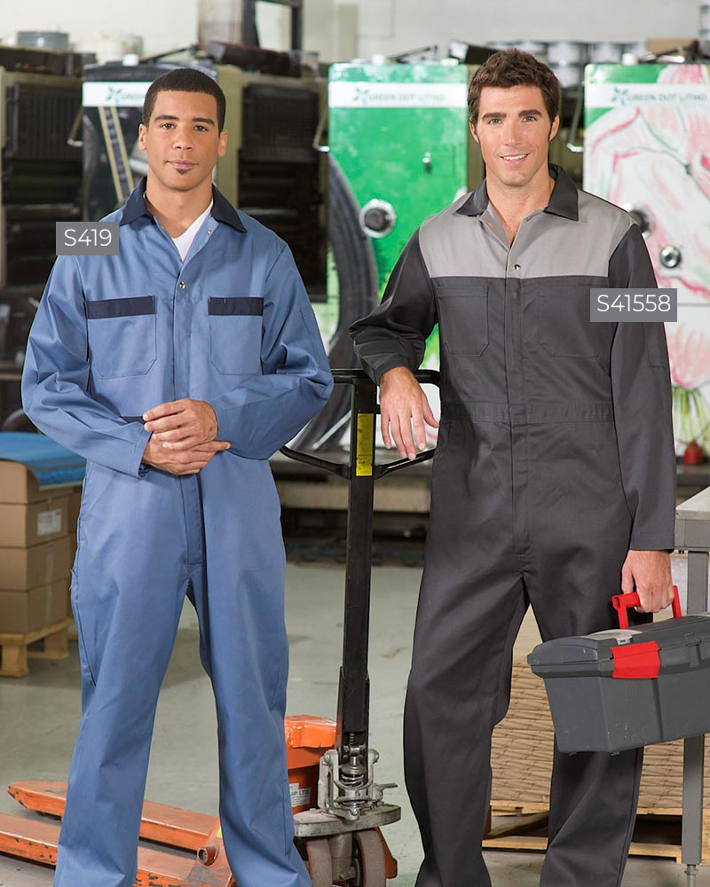 Poly/Cotton Contrast Coveralls